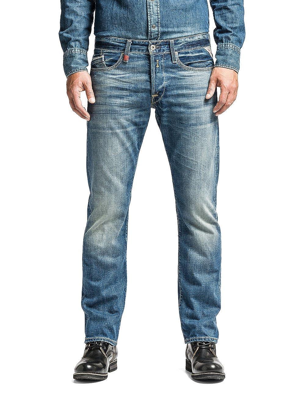 TALLA 34W / 30L. Replay Waitom, Jeans Hombre