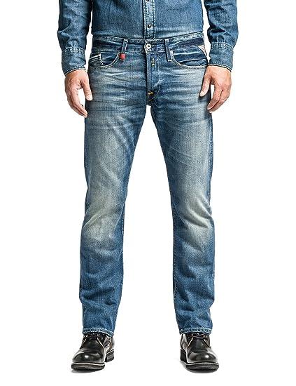 d675b9bf Replay Men's Waitom Regular Slim Jeans: Replay: Amazon.co.uk: Clothing