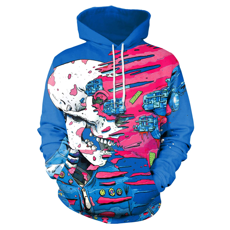 Mrsrui Unisex 3D Graphic Print Realistic Casual Long Sleeve Hoodie Pullover Sweatshirt by Mrsrui