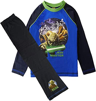 NEW BOYS OFFICIAL STAR WARS JEDI MASTER YODA PYJAMAS AGES 4-5 up to 9-10 YEARS