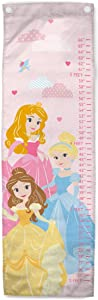 Jay Franco Disney Princess Growth Chart – Kids Removeable Wall Décor Features Aurora, Belle, Cinderella (Official Disney Product)
