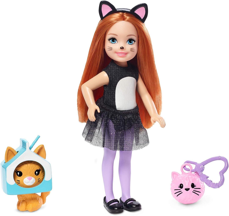 Amazon.es: Barbie Chelsea Disfraz de Gatito Negro, Muñeca con ...