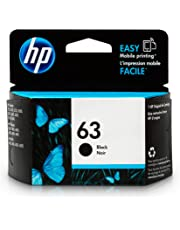 HP 63 Black Ink Cartridge (F6U62AN) for HP Deskjet 1112 2130 2132 3630 3632 3633 3634 3636 3637 HP ENVY 4512 4513 4520 4523 4524 HP Officejet 3830 3831 3833 4650 4652 4654 4655