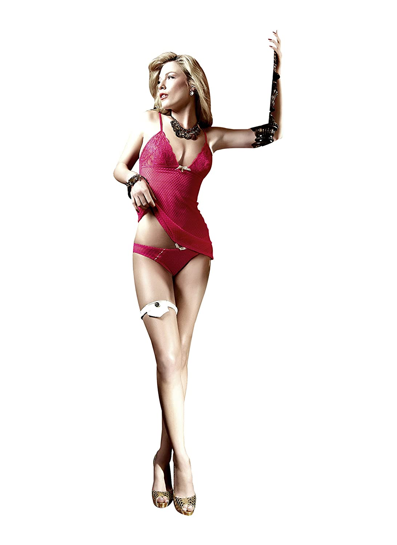 4277f0af45ee Baci BW3058 Chemise del bikini Set-Mesh/Encaje, frambuesa-rosado (un ...