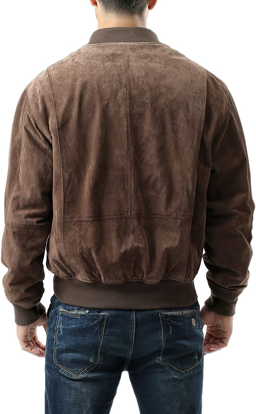 Landing Leathers Mens WWII Suede Leather Tanker Jacket Regular and Big /& Tall Sizes