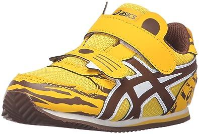 ASICS Animal Pack Running Shoe (Toddler), Tiger Gold/Coffee, 4 M
