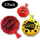 HUALEDI [3 Pack] Whoopee Cushion Set,Woopie Cushion Party Favor for [4,6,8 Inch][No Automatic Inflation][Reward][Prank…