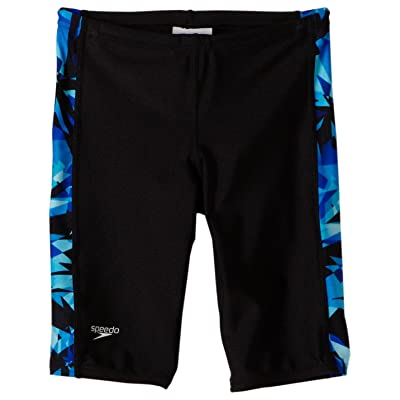 Speedo Big Boys' Shattered Glass Xtra Life Lycra Jammer Swimsuit