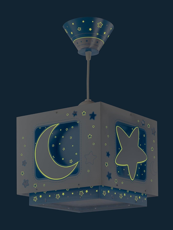 Clase de Eficiencia energ/ética A++ A C L/ámpara Colgante Luna y Estrellas Azul Dalber 63232T Moon And Stars E27