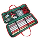 Christmas Gift Wrap Fabric Storage Bag (82 x 34 x 13 cm) . For Paper, Tags & Bows