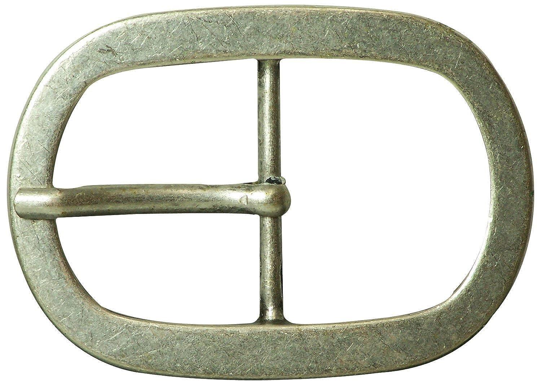 Fronhofer | Gürtelschnalle | Basic | mattsilber | ovale Form | Jeansschnalle | unisex | für 4, 5 cm Gürtelriemen | 17599 Farbe:Silber