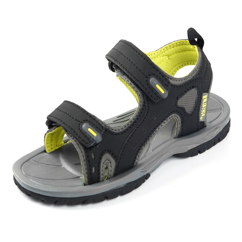 Northside Boys' Riverside II Sport Sandal, Black/Yellow, Size 4 M US Big Kid