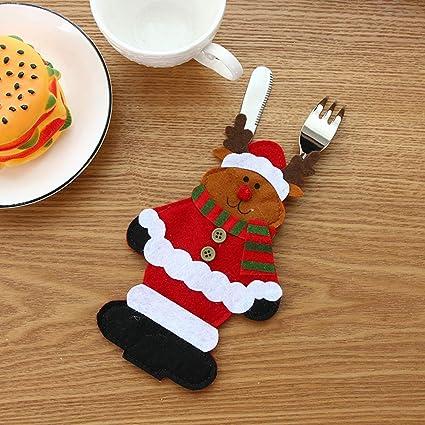 Amosfun Tres Cuchillos y arpones de Santa Claus,un muñeco de ...