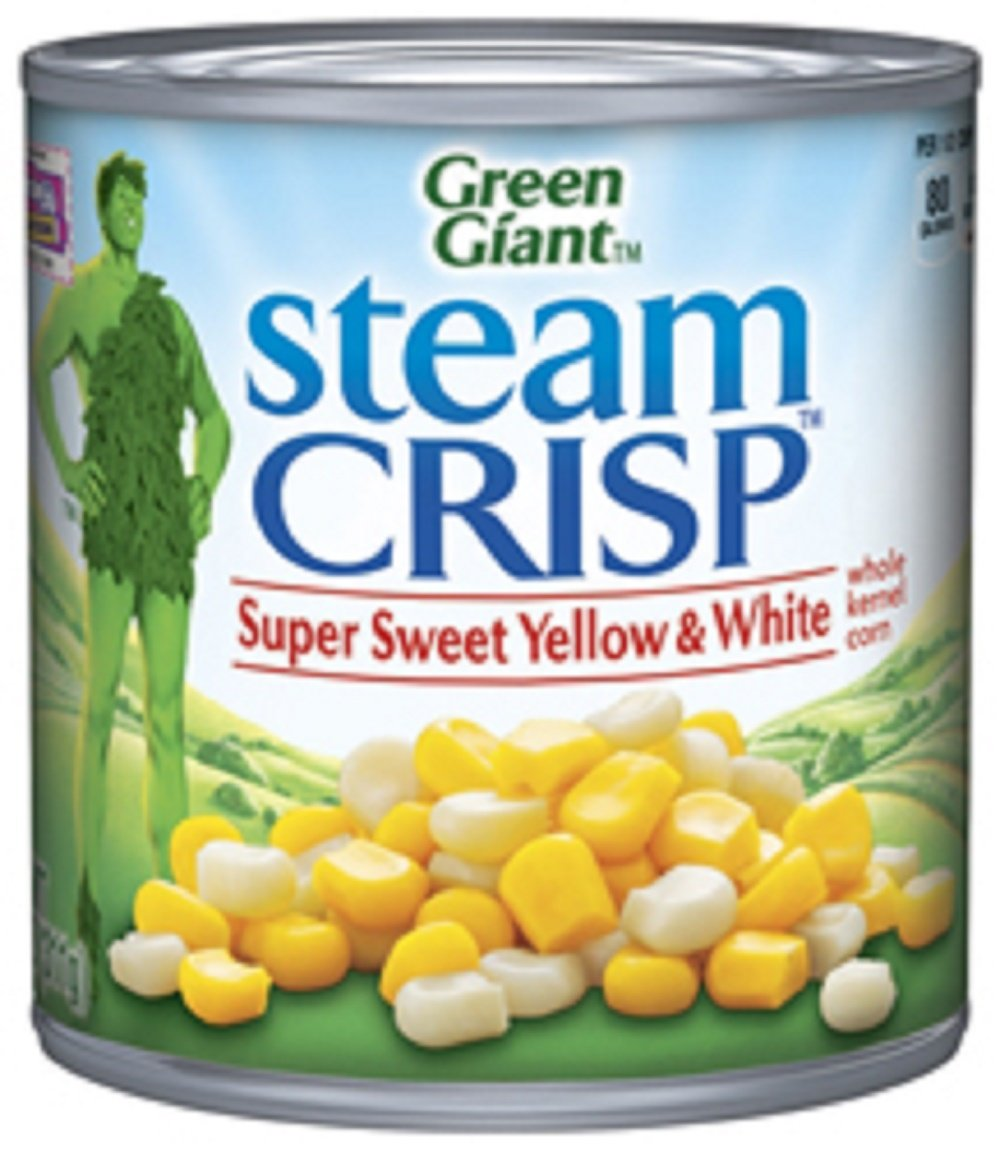 Green Giant, Steam Crisp, Super Sweet Yellow and White Whole Kernel Corn, 11 oz Can (Pack of 6)