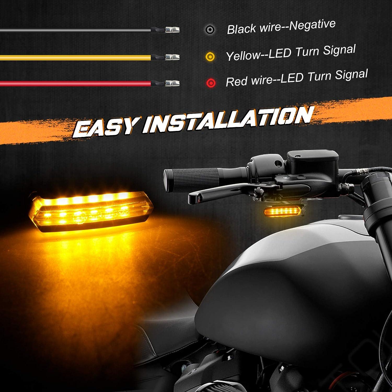NTHREEAUTO Handlebar LED Turn Signals Mini Motorcycle Blinkers ...