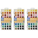 Artists Loft rgOiC Fundamentals Watercolor Pan Set, 36 Colors (3 Pack)