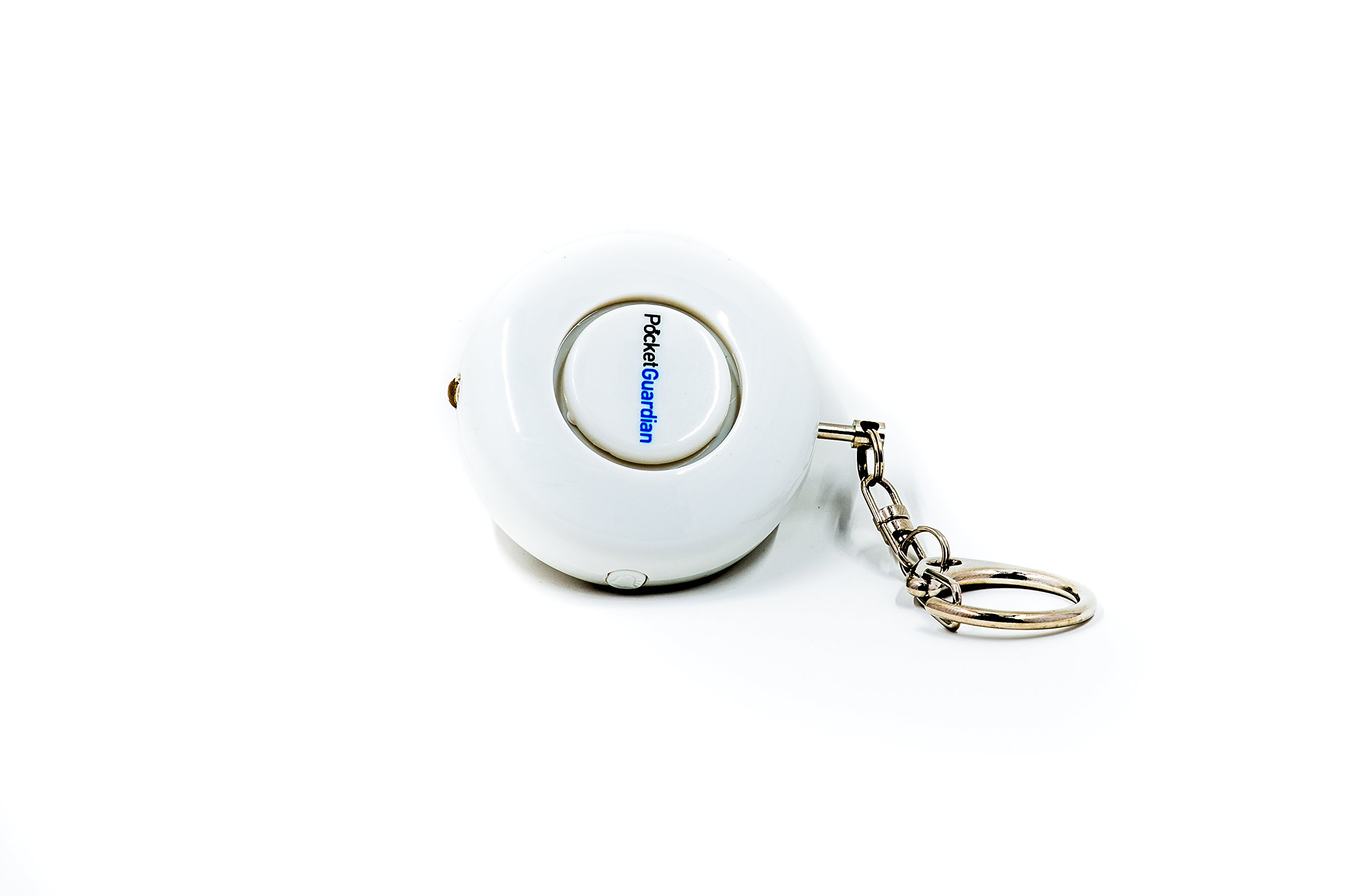 Pocket Guardian Personal Alarm Rape Whistle Attack Prevention Device with Flashlight (White) by Z9 Brands (Image #2)