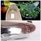 CAMTOA 1 Pair Semelle Talon Talonnette en Gel Silicone Orthopédique Transparent Sans Coller Chaussures Pads