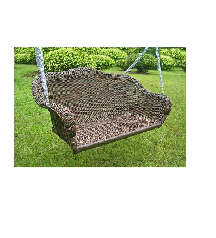 porch home free overstock garden product shipping today swing wicker resin