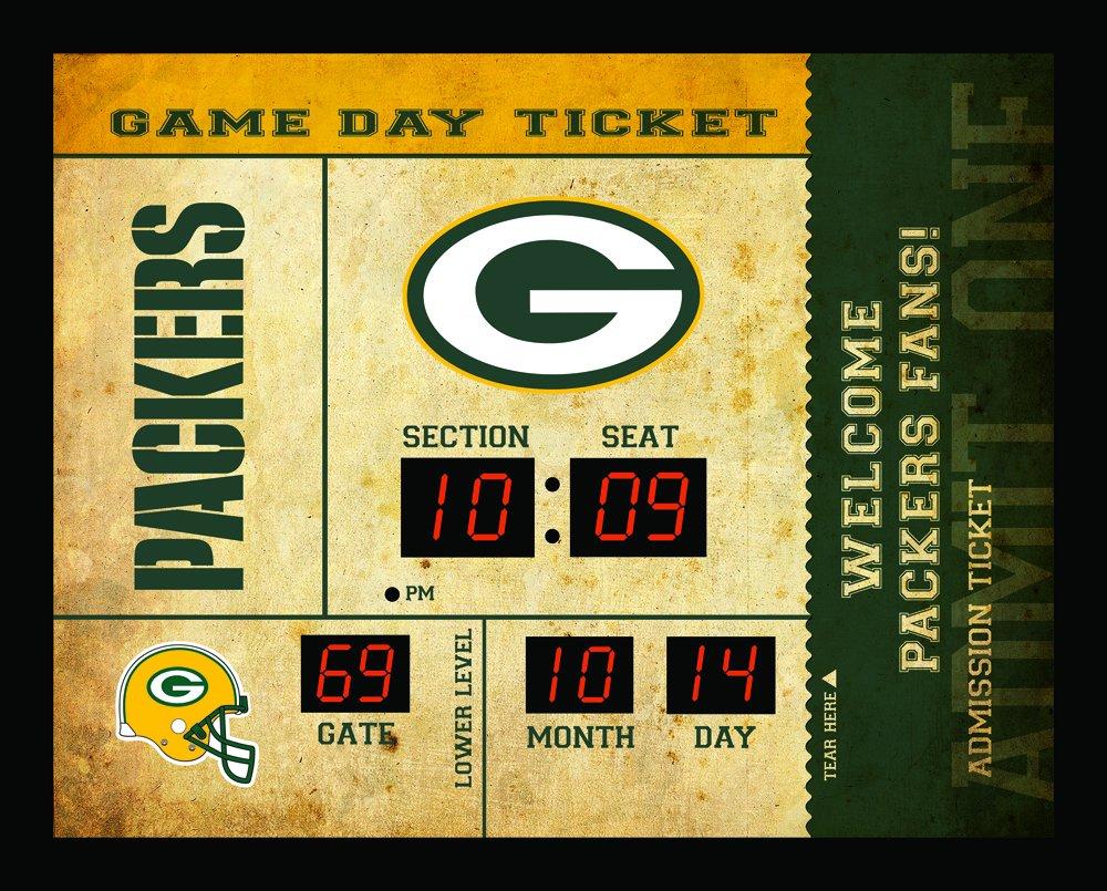 Team Sports America Green Bay Packers Bluetooth Scoreboard Wall Clock by Team Sports America