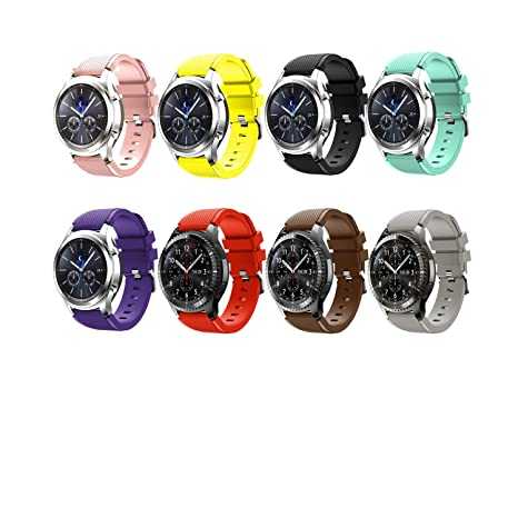 Tabcover® 8 Colors Gear S3 Frontier Classic Smart Watch Correa, 22mm Soft Silicone Sports Replacement Strap for Samsung Gear S3 Frontier Classic