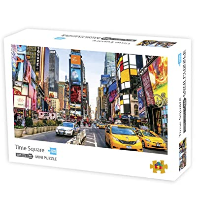 Mousmile Time Square of New York Jigsaw Puzzles 1000 Piece for Adult Kids Educational Toys,Paper Wooden Puzzles,Simple DIY Art Wall Decoration,World Geography and Building (New York): Toys & Games
