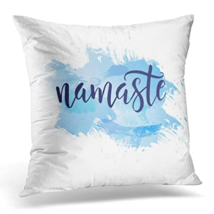 Amazon golee throw pillow cover white namaste lettering indian golee throw pillow cover white namaste lettering indian greeting hello in hindi hand lettered calligraphic design m4hsunfo