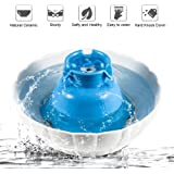 YOUTHINK Pet Fountain Ceramic Cat Water Fountain 2.1L Pet Water Drinking Bowl for Cats and Dogs with Replacement Filters and Foam