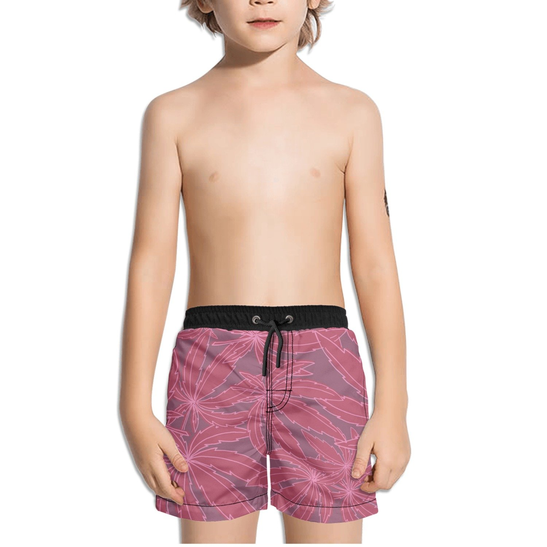 Ouxioaz Boys Swim Trunk Paint Marijuana Cannabis Leaf Beach Board Shorts