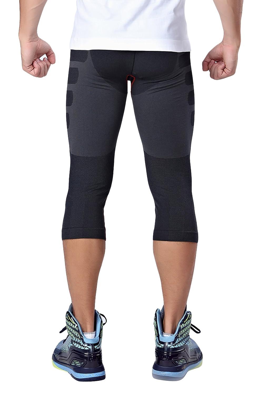 HonourSport Legging de Sport Fitness 3//4 Baselayer Pantalon de Compression Homme