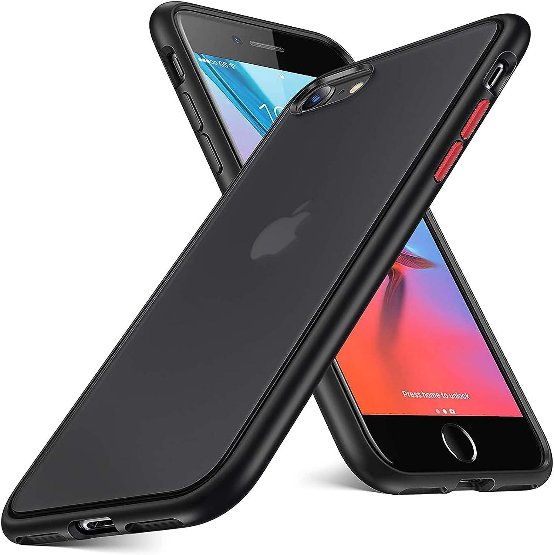 ORIbox iPhone SE 2020 Case & iPhone 7 Case & iPhone 8 Case, Translucent Matte Hard PC Back & Silicone TPU Bumper, Protective & Slim Fit