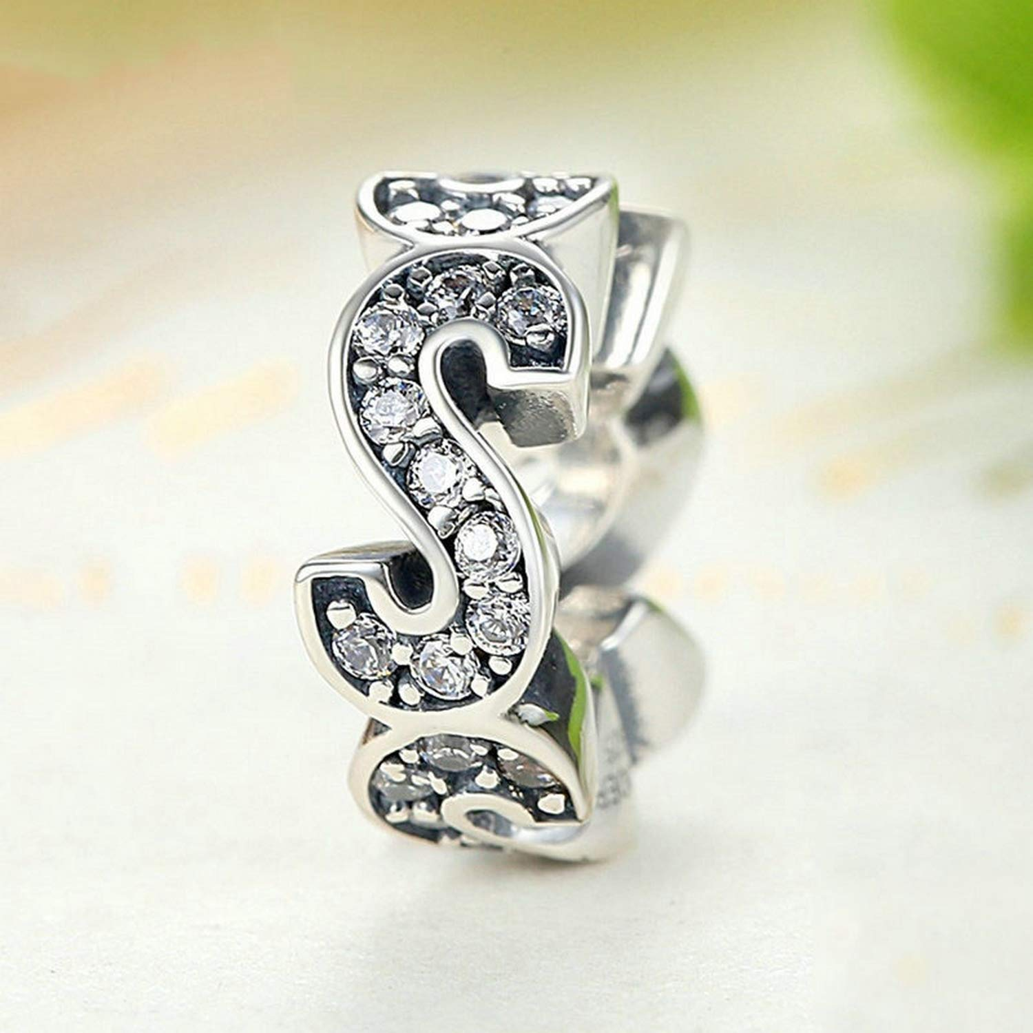 EverReena Beads S Shape Vogue Spacer Charms for Silver Bracelets