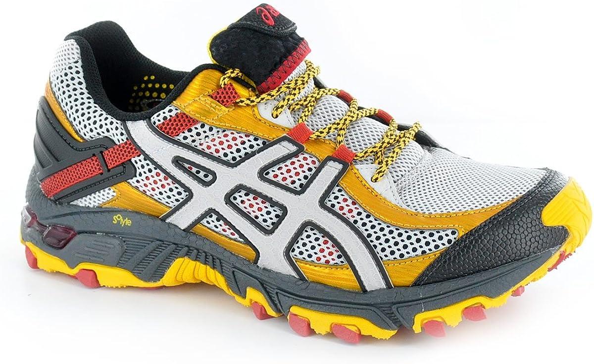 Asics Gel Trabuco 14 t1d1 N9390, Running Hombre, Gris (Gris, Noir et Jaune dor), 41.5: Amazon.es: Zapatos y complementos