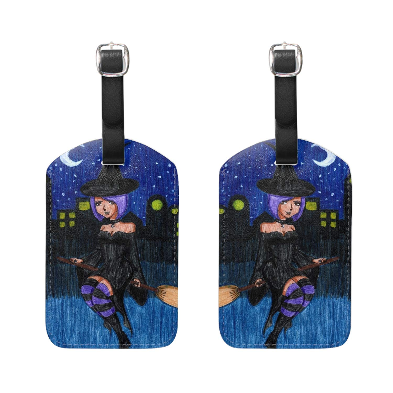 Animal Party Print Luggage Identifiers with Strap Closure