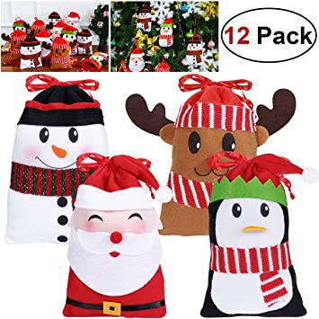 Christmas gift bags for treats sweets presents Penguins Snow Reindeer