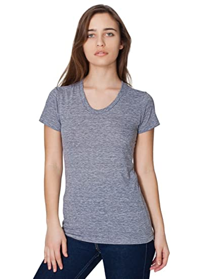 daf6a9939e8 American Apparel Women s Tri-Blend Short Sleeve Women s s Track T-Shirt  Size S Athletic