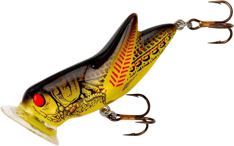 Rebel Lures P73434 Crickhopper Popper Lure 1 3 4 3 16 Oz Yellow Black Back Topwater Lures Amazon Canada