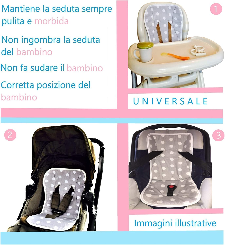 fabriqu/ée en Europe chaise haute Papa 60 x 33 - Navy - SAILOR coton BabyCANGAROO/® Housse de poussette universelle si/ège auto respirante anti-transpiration
