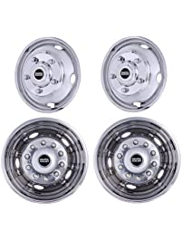 Pacific Dualies 30-1950 Polished 19.5 Inch Stainless Steel Wheel Simulator Kit for 1974-2005 Chevy GMC HD 3500/P30 Truck