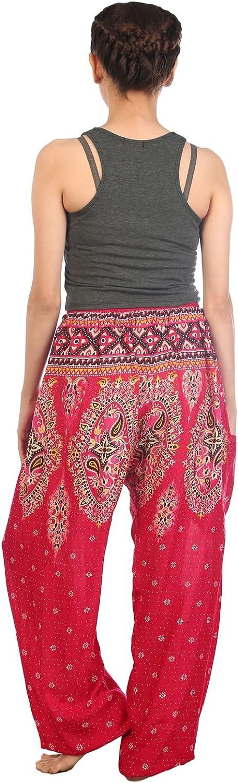 Lofbaz Womens Thai Floral Boho Harem Pants Yoga Hippy Bohemian