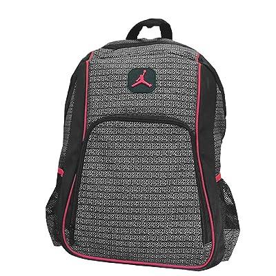 Jordan Boys Black & Red 23 Backpack (Black): Clothing