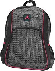 Jordan Boys Black & Red 23 Backpack (Black)