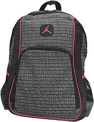 Jordan Boys Black & Red 23 Backpack (Black)