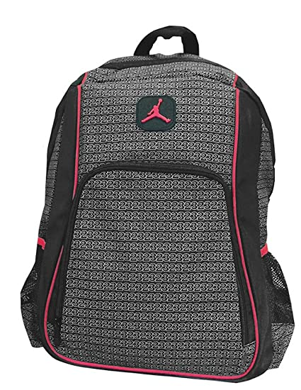 4d0e9f6515a Amazon.com: Jordan Boys Black & Red 23 Backpack (Black): Sports & Outdoors