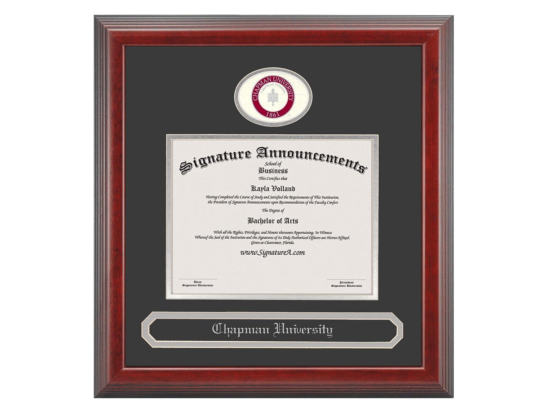 Cherry Professional//Doctor Sculpted Foil Seal /& Name Graduation Diploma Frame 16 x 16 Signature Announcements Chapman-University Undergraduate