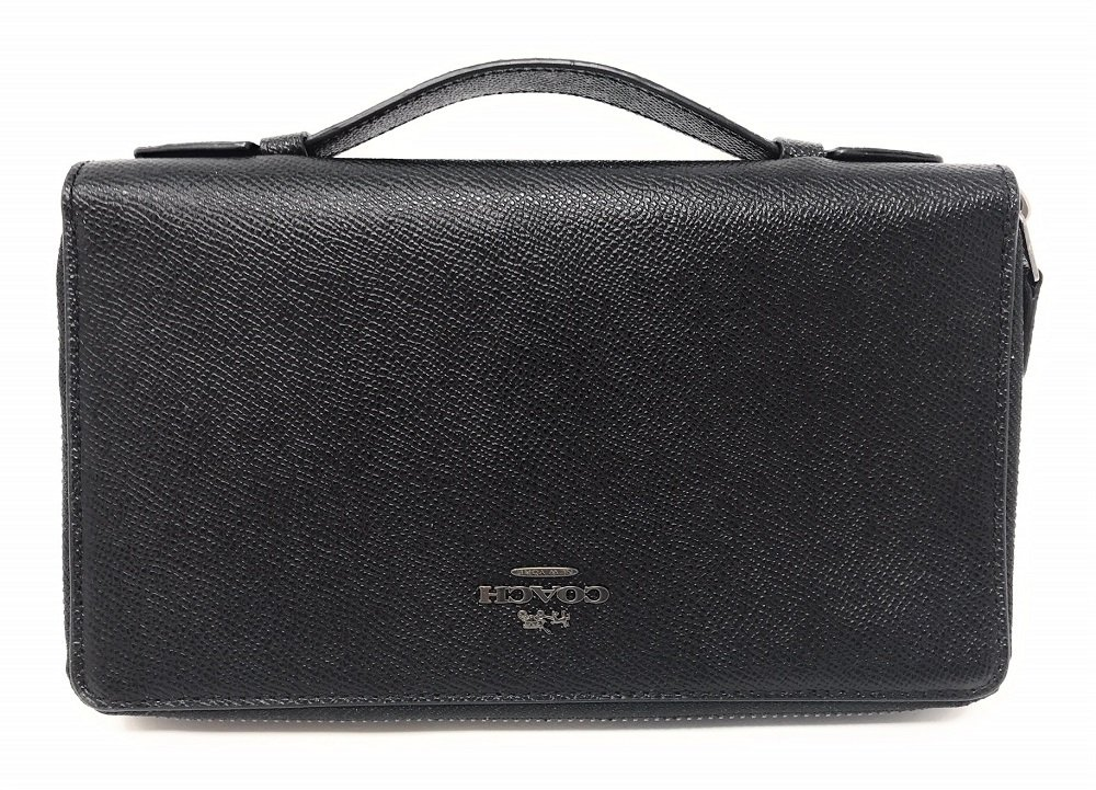 Double Zip Travel Organizer In Crossgrain Leather by Coach