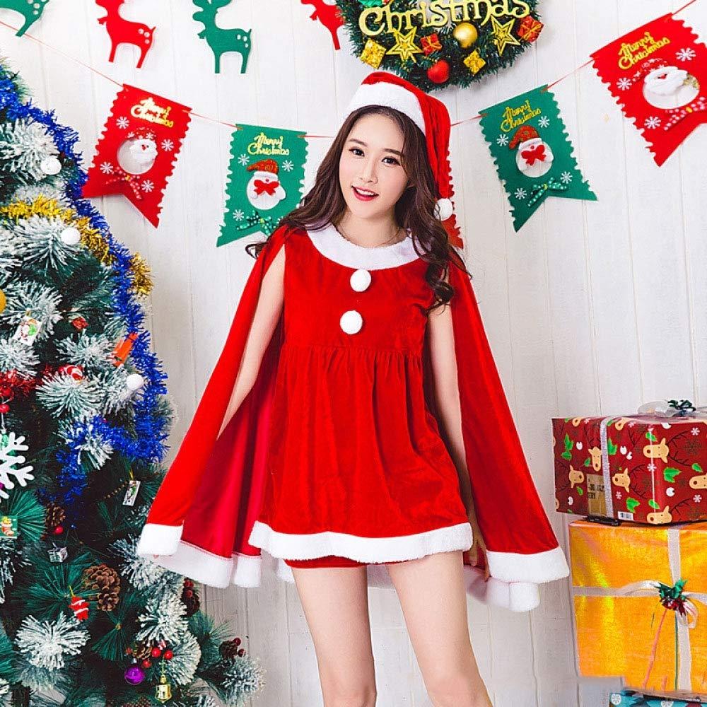 Shisky Disfraz de Navidad Adulto,Aumento Yardas Navidad Mostrar Ropa Navidad Traje Femenino Adulto Navidad Partido Etapa Rendimiento Traje