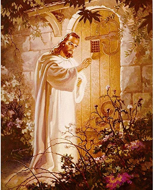 Amazon.com: Dicksons Jesus Knocking at Heart's Door Golden Garden ...
