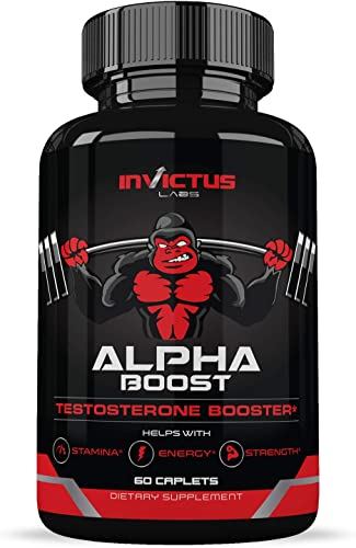 Extra Strength Testosterone Booster for Men 60 Caplets Natural Endurance, Stamina and Strength Booster Build Muscle Fast Performance and Recovery Promotes Healthy Weight Loss and Fat Burning