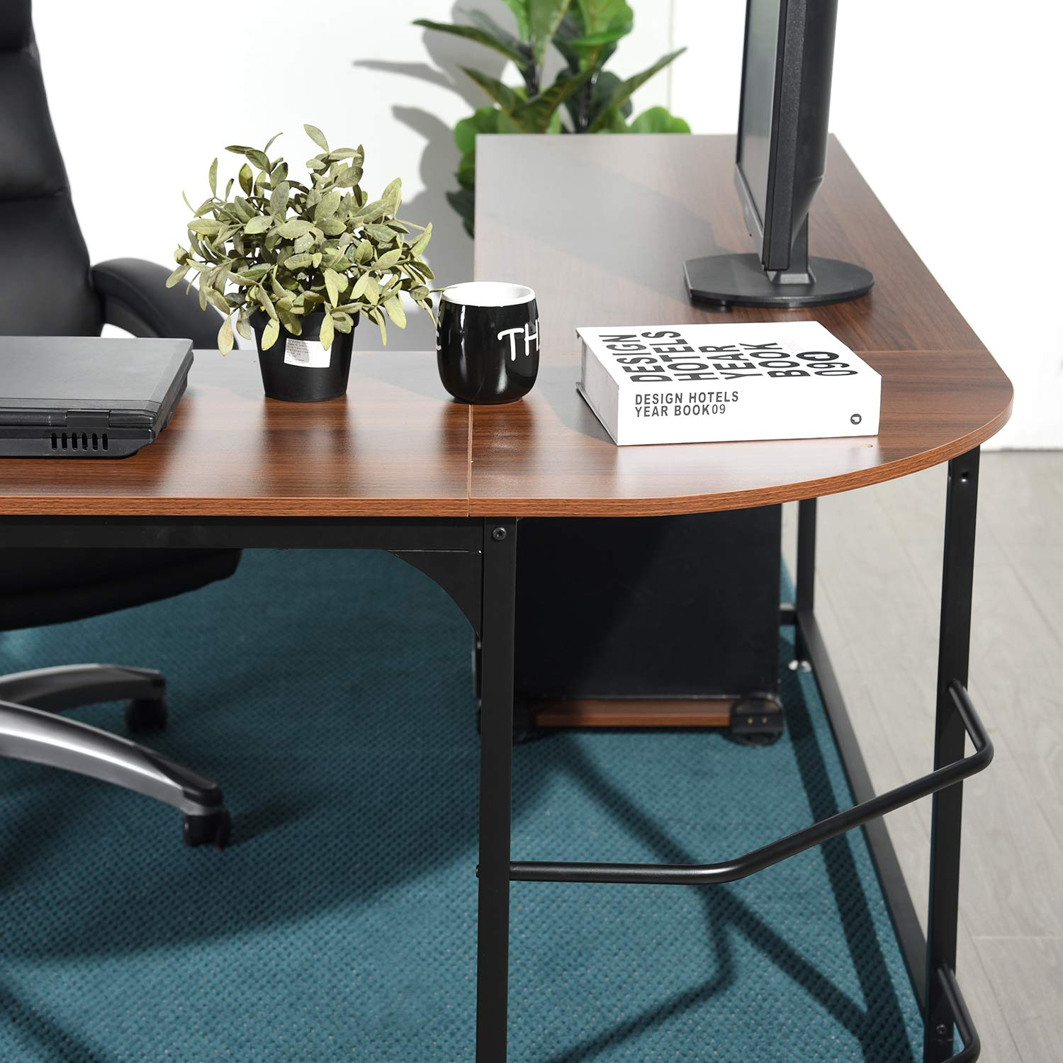 SimLife Reversible L-Shaped Corner Computer Desk Standard PC Laptop Study Table Smooth Desktop Modern Home Office Workstation by SimLife (Image #4)